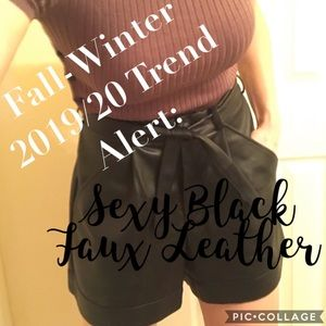 Fall-Winter 2019/20 Trend: Sexy Black Faux Leather